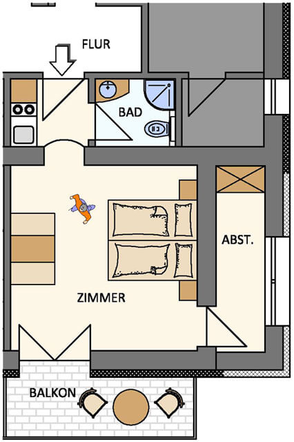 Plans for Kastanienzimmer